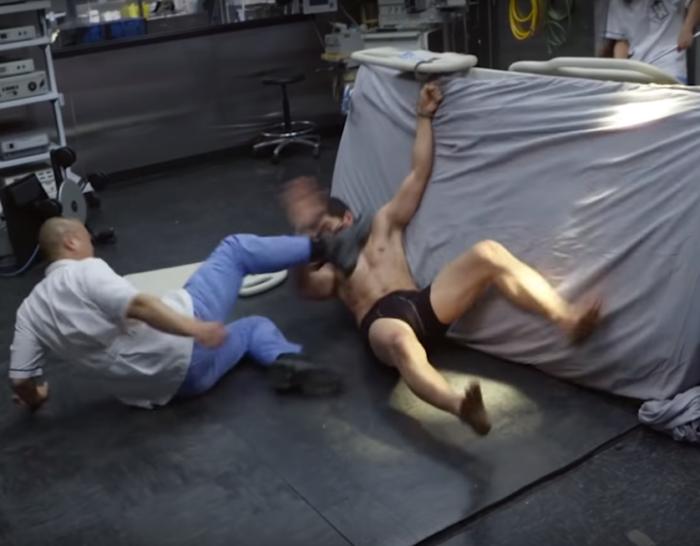 Съемки боевых сцен для фильма «22 мили»