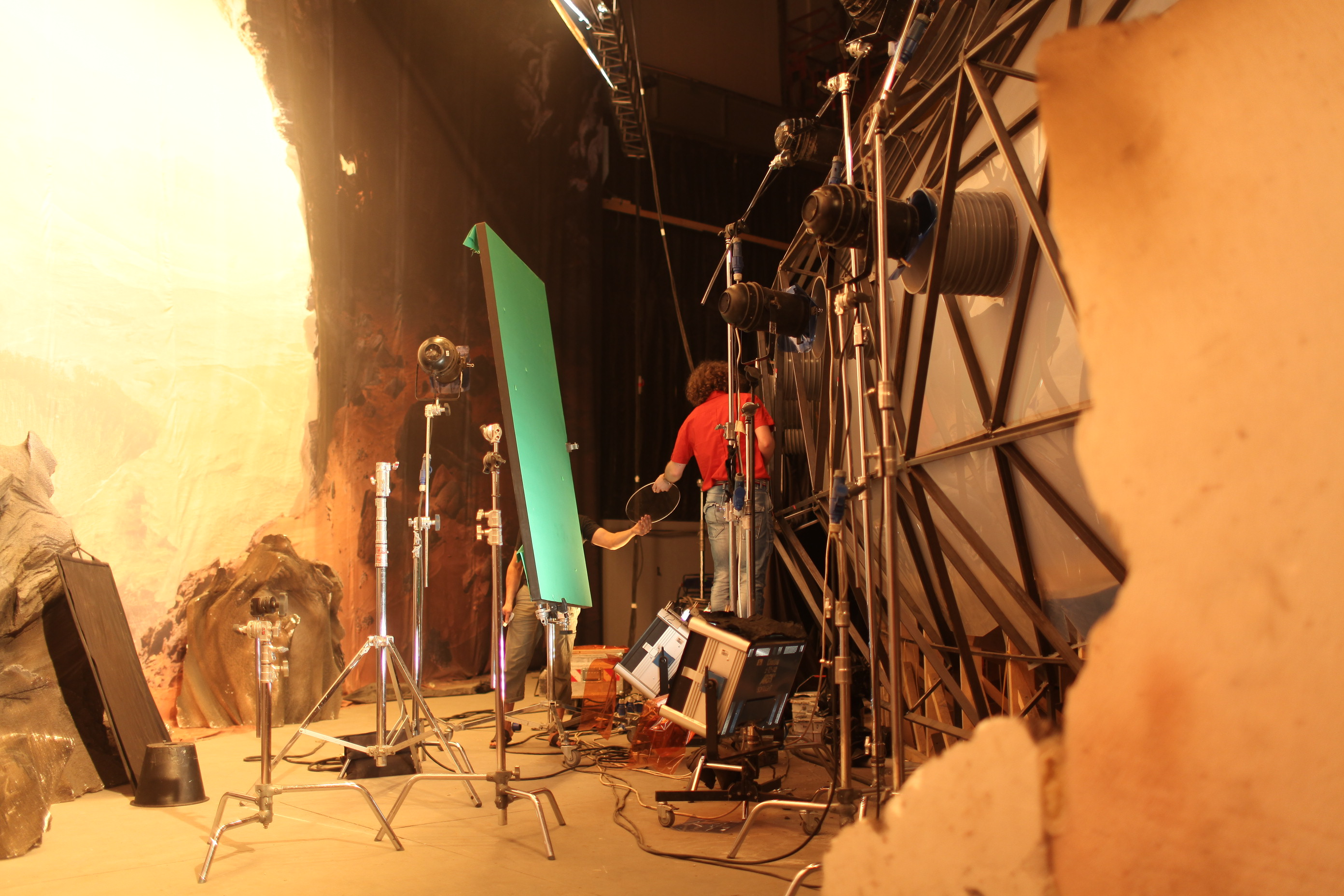 Фотография со съемок фильма «Пришелец»