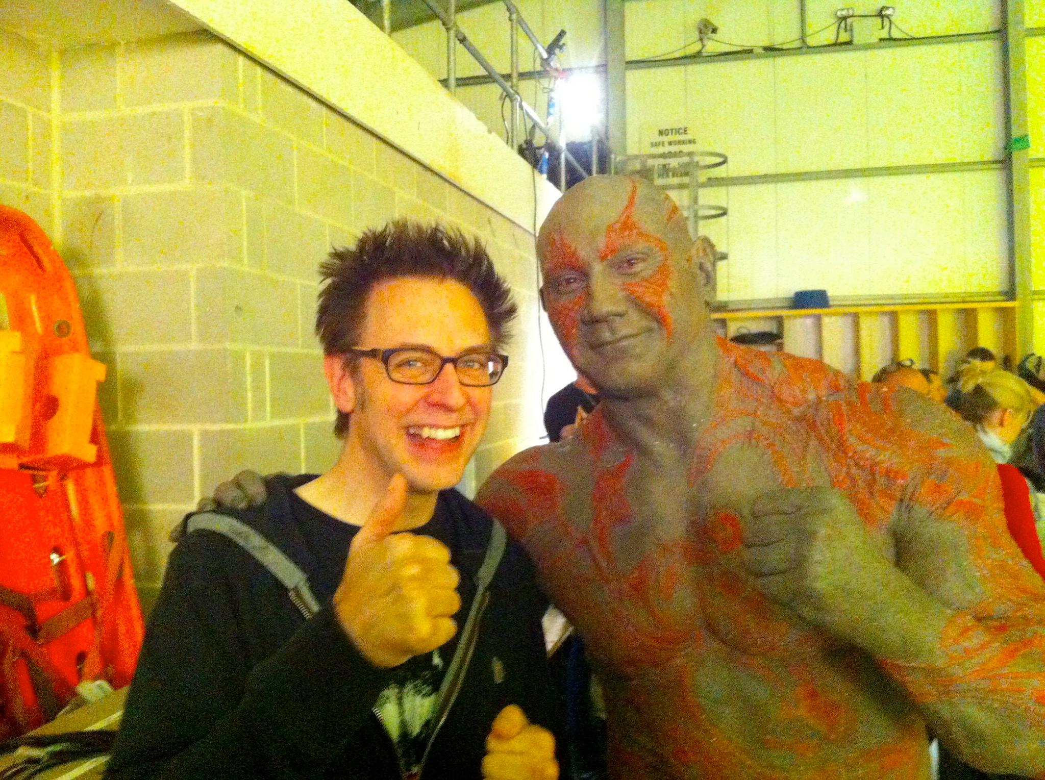 Джеймс Ганн на съёмках фильма «Стражи галактики»