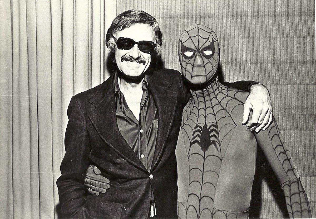 Стэн Ли и Человек-паук (фотография конца 1970-х)