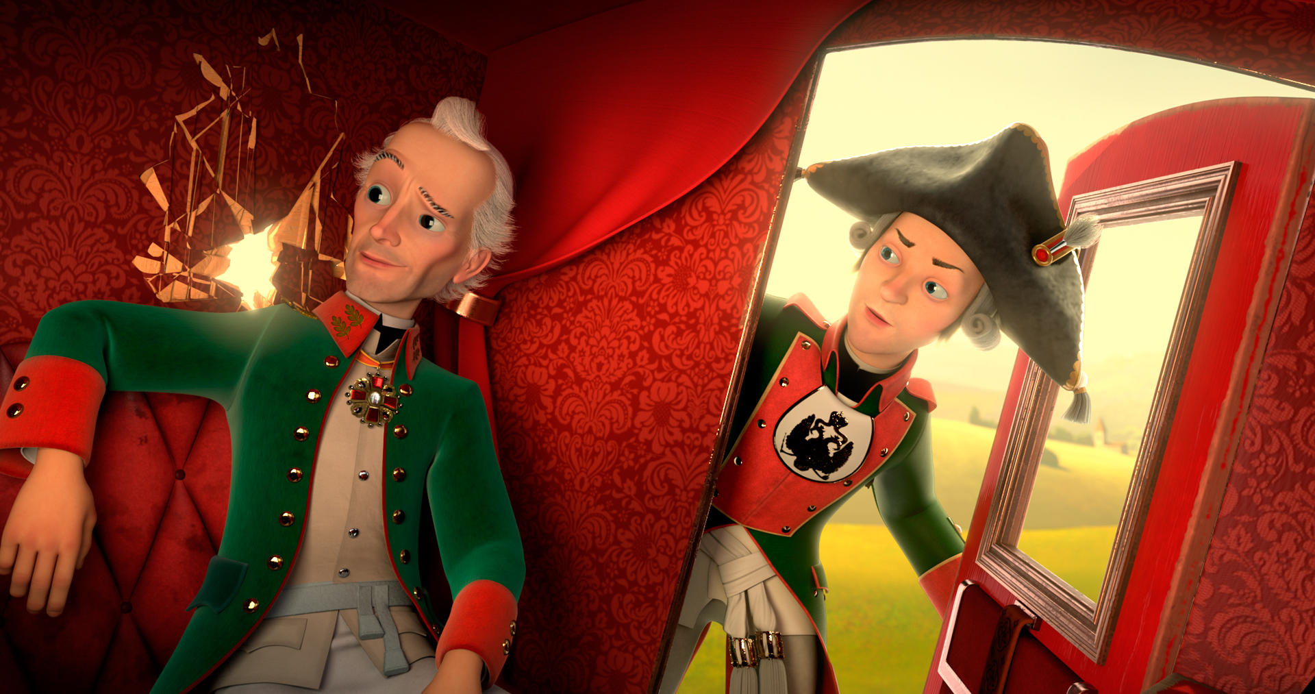 Кадр из мультфильма «Суворовъ 3D»