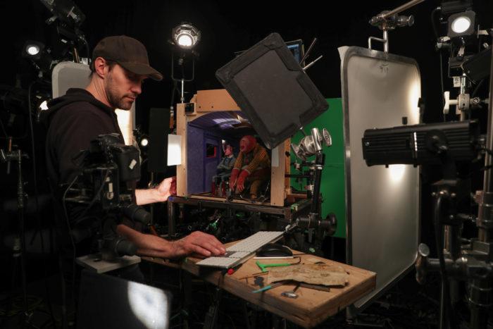 Опубликованы фотографии со съемочной площадки мультфильма «Потерянное звено»