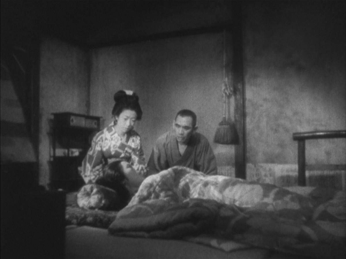Кадр из фильма «Повесть о поздней хризантеме»