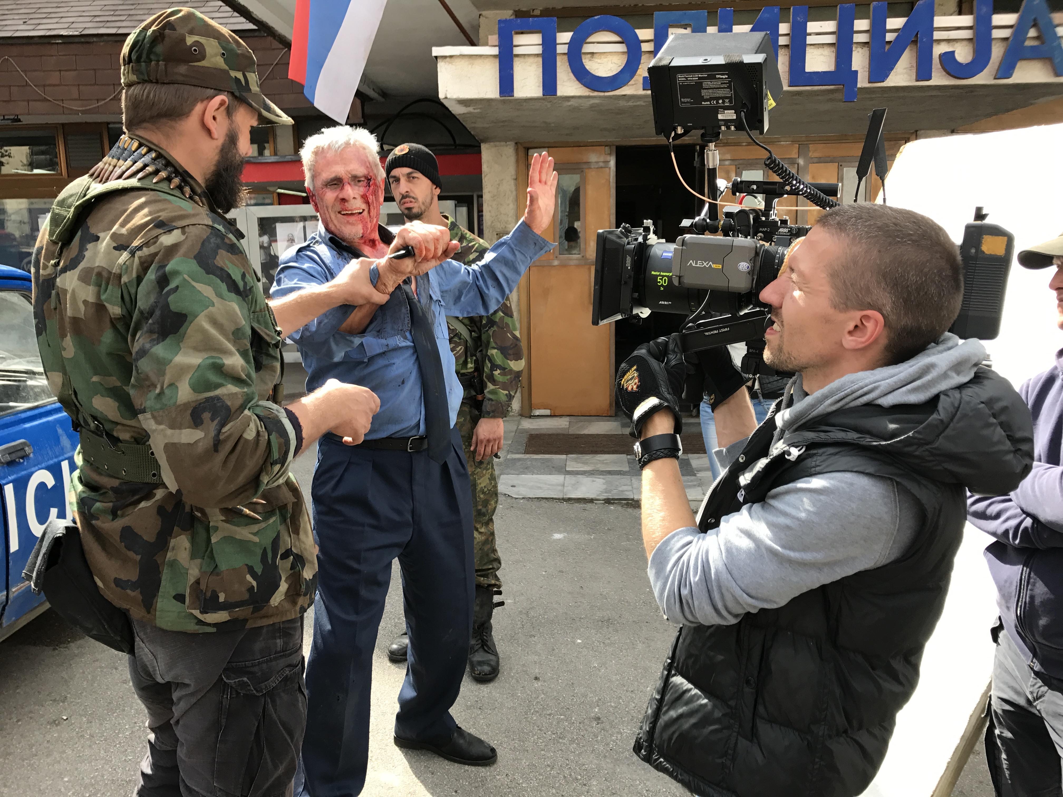 Фотография со съемок фильма «Балканский рубеж»