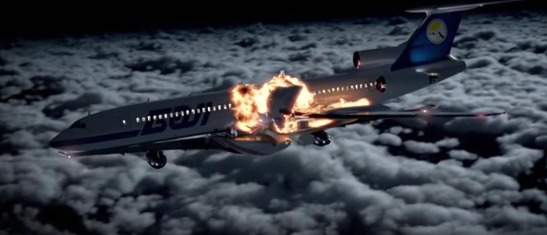 Кард из фильма «За секунду до катастрофы» (реконструкция столкновения самолетов)