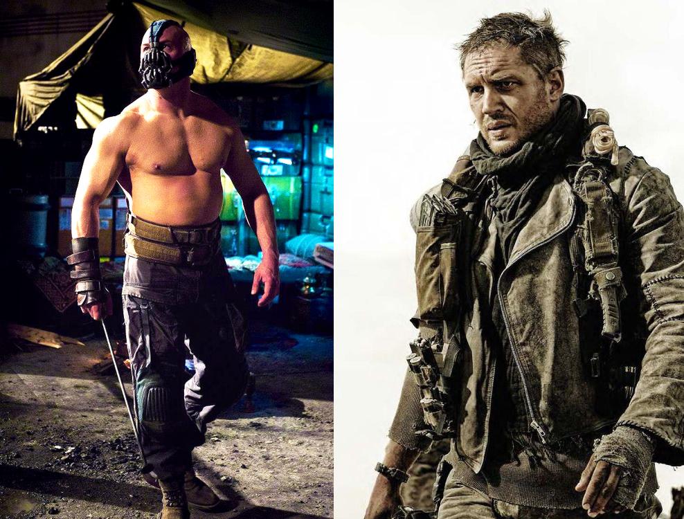 Кадры из фильмов «Темный рыцарь: Возрождение легенды» и «Безумный Макс: Дорога ярости»