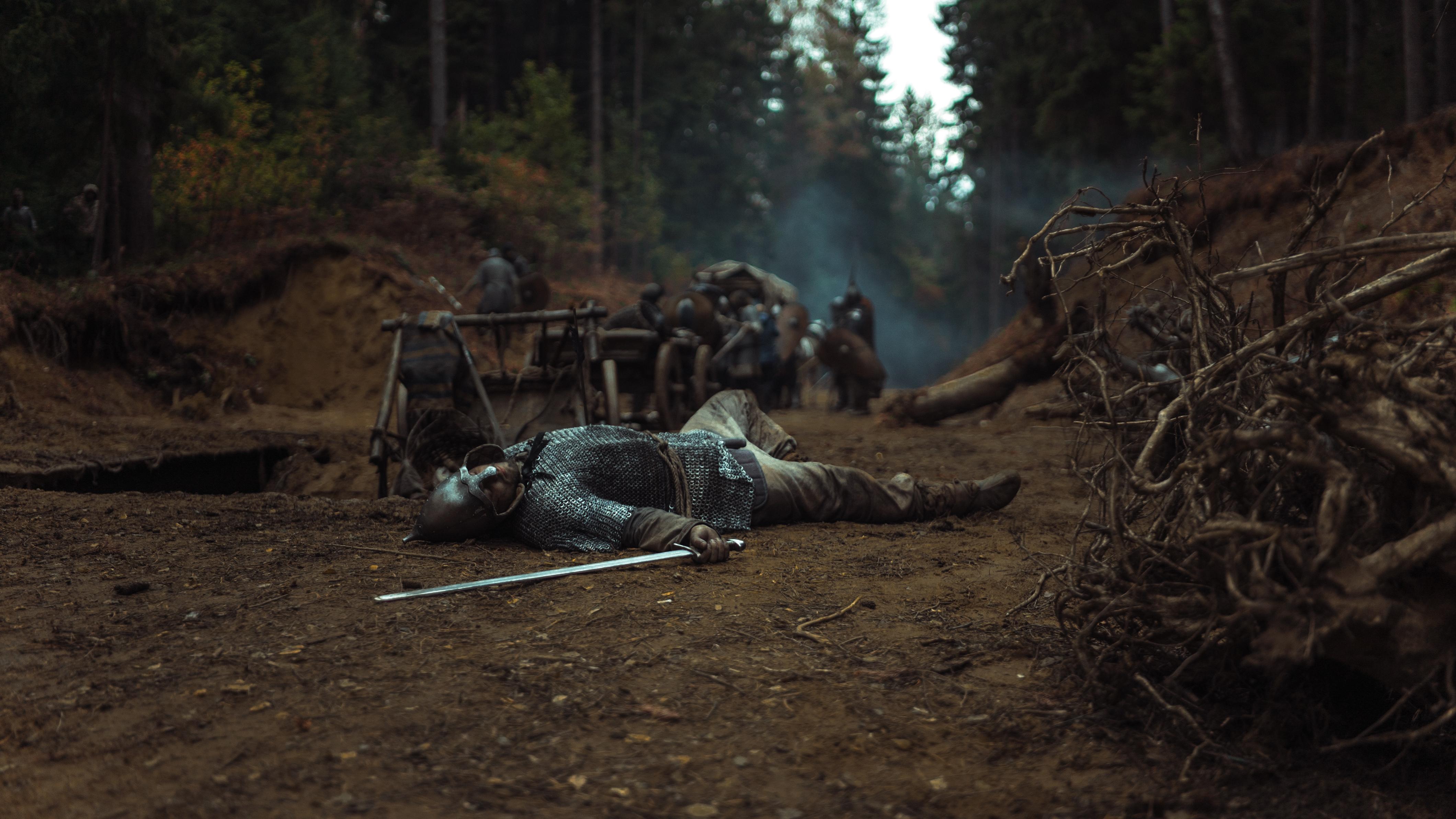 Кадр со съемок фильма «Илия Муромец»