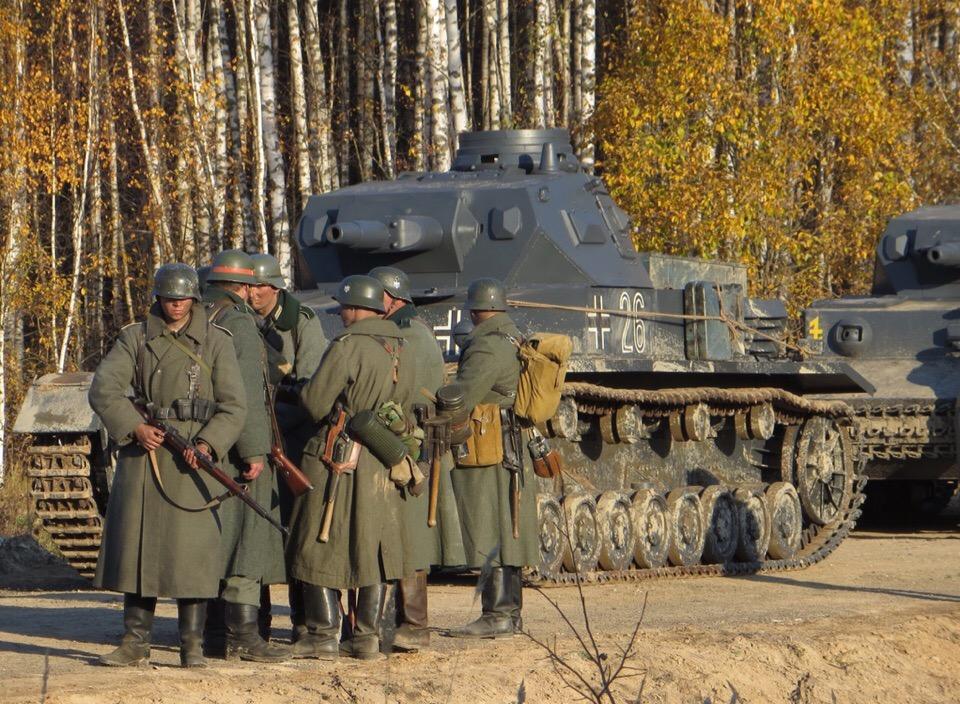 Фотография со съемок фильма «Ильинский рубеж»