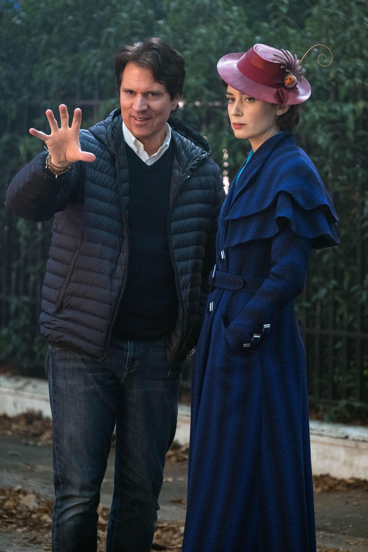 Фотография со съёмок «Мэри Поппинс возвращается» © Disney