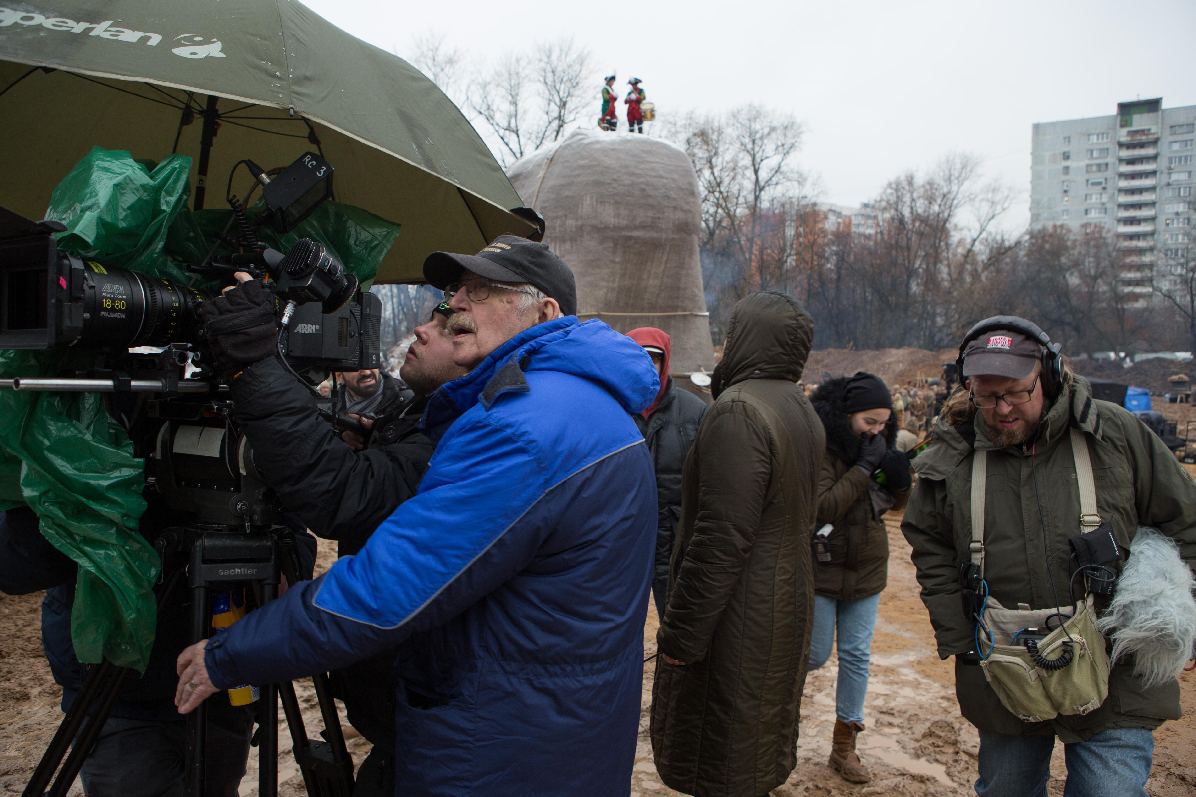 Фотография со съёмок фильма «Медный всадник России»