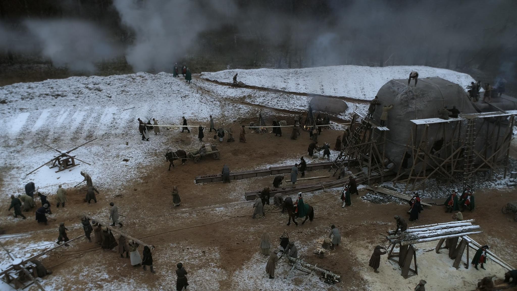 Кадр из фильма «Медный всадник России»