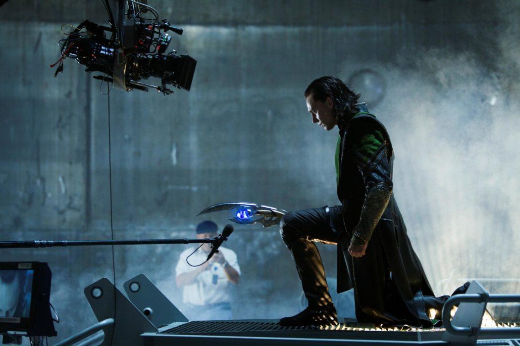 Фотография со съёмок фильма «Мстители»