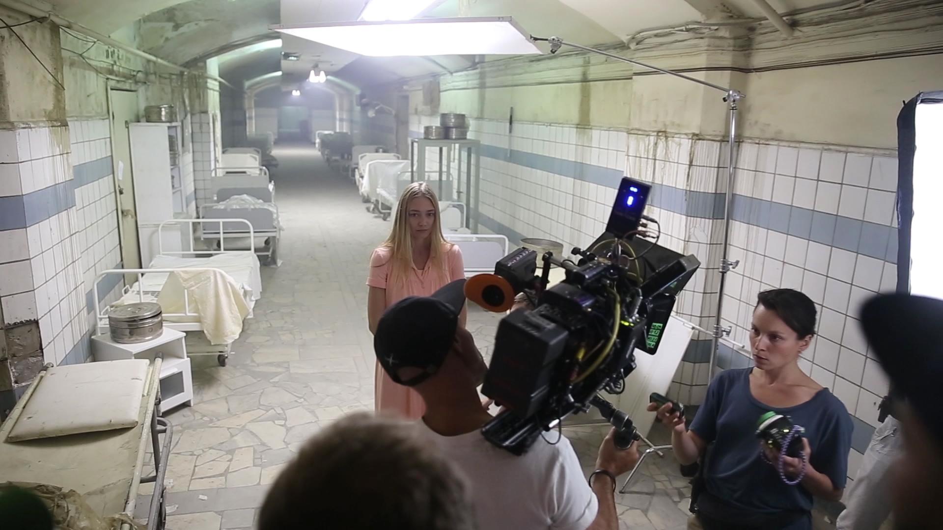 Фотография со съемок фильма «Рассвет»
