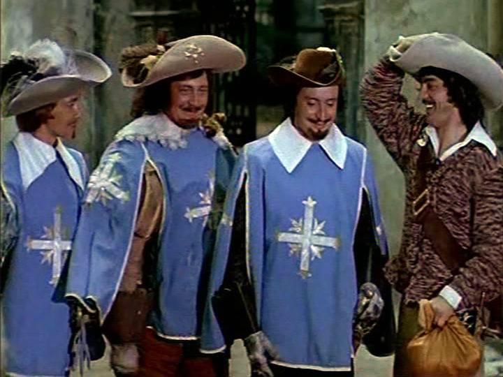 Кадр из советского фильма «Три мушкетёра» (1973 год)