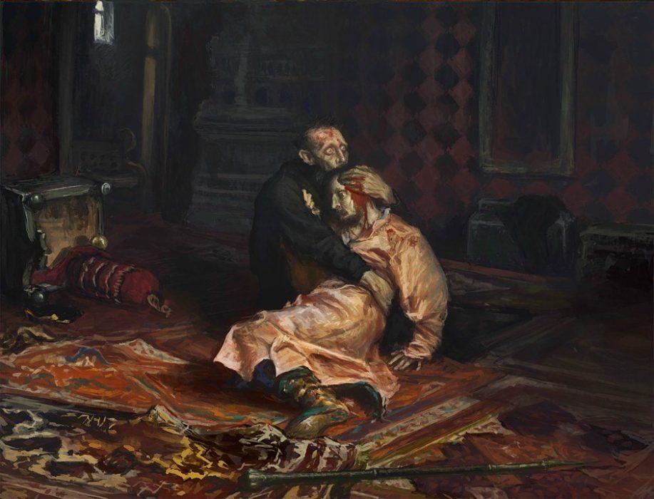 Картина Ильи Ефимовича Репина «Иван Грозный и сын его Иван 16 ноября 1581 года»
