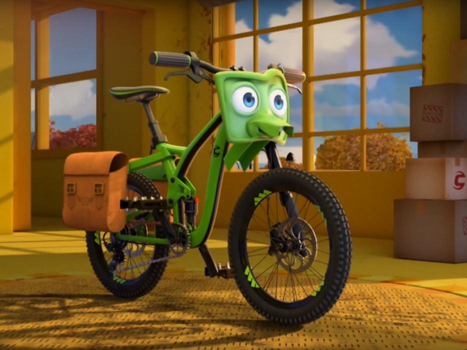 Кадр из мультфильма «Велотачки»