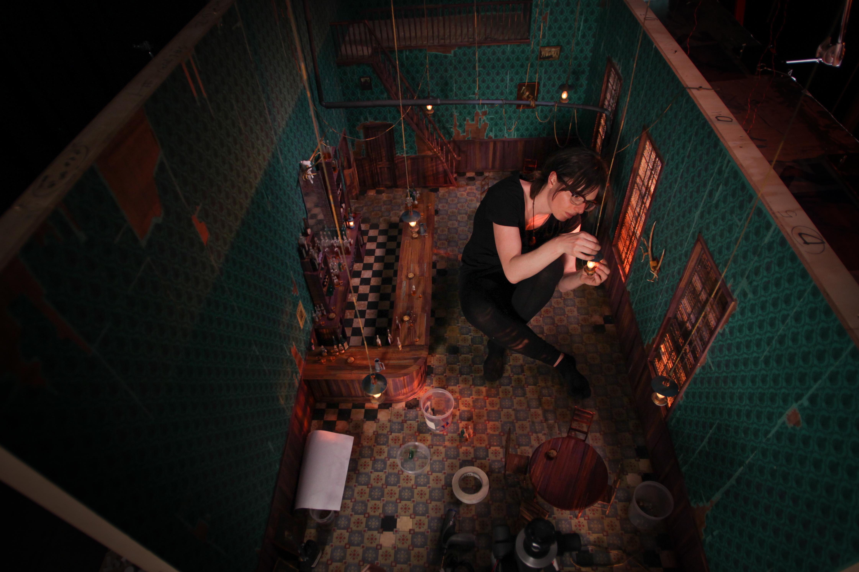 Фотография со съемочной площадки мультфильма «Потерянное звено»