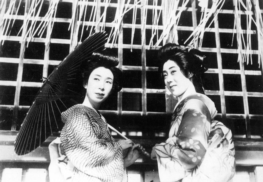 Кадр из фильма «Гионские сестры»