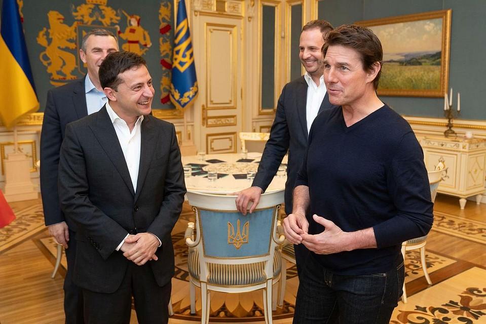 Том Круз встретился с Владимиром Зеленским