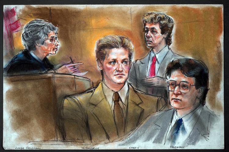 Зарисовка судебного заседания Ida Libby Dengrove
