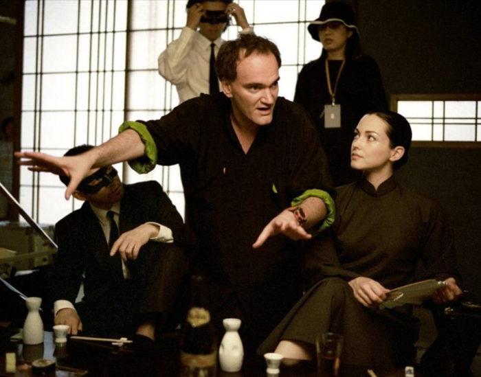Фотография со съёмок фильма «Убить Билла»