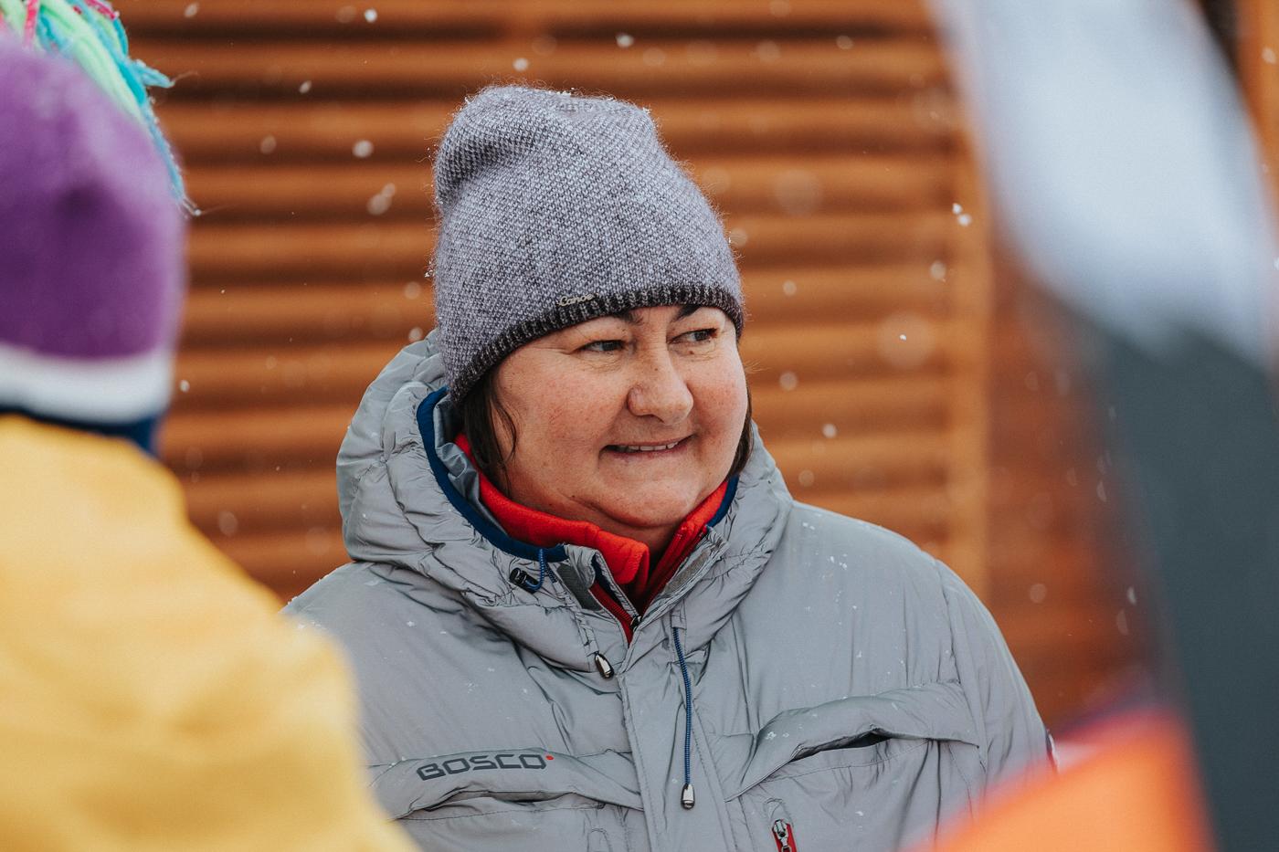 Елена Вяльбе. Фотография со съёмок фильма «Белый снег»