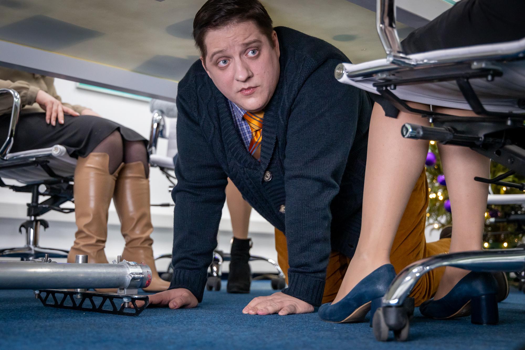 Фотография со съёмок фильма «Убить босса»