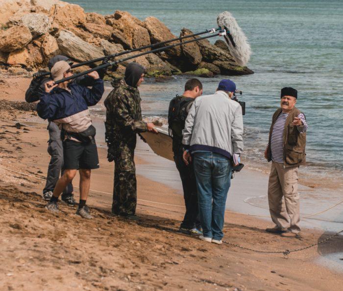 Фотография со съёмок фильма «Крымский мост. Сделано с любовью!»