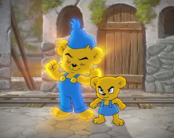 Кадр из фильма «Медвежонок Бамси и Замок разбойников»