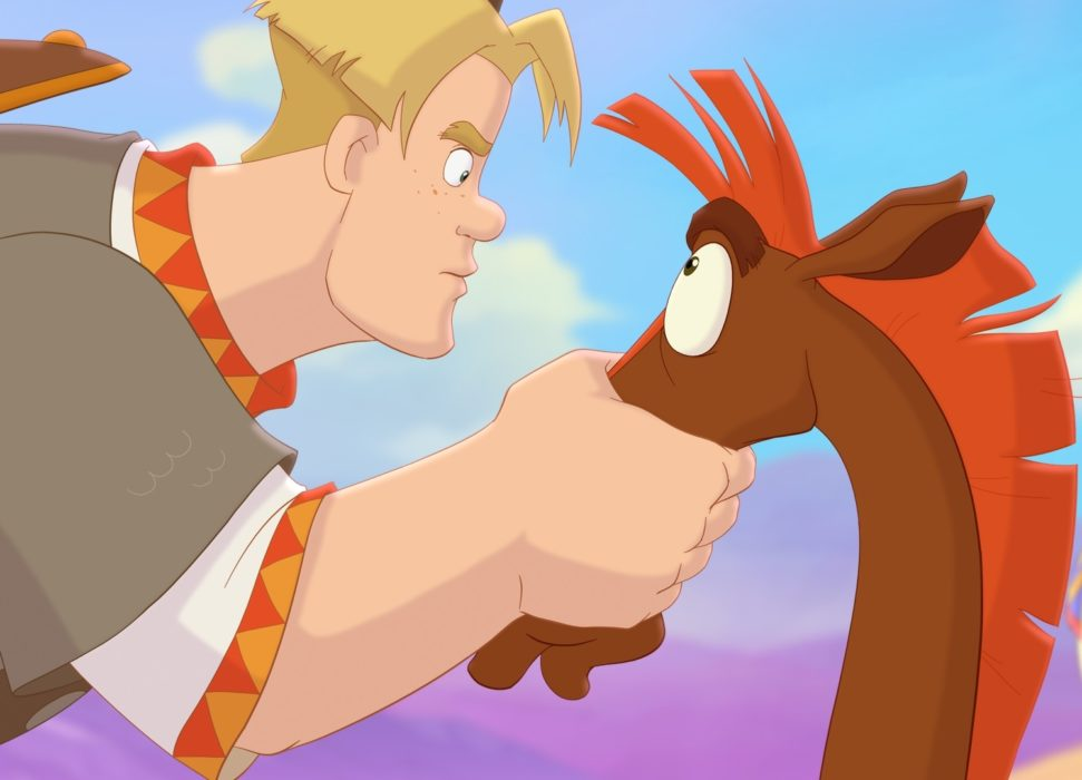Кадр из фильма «Конь Юлий и большие скачки»