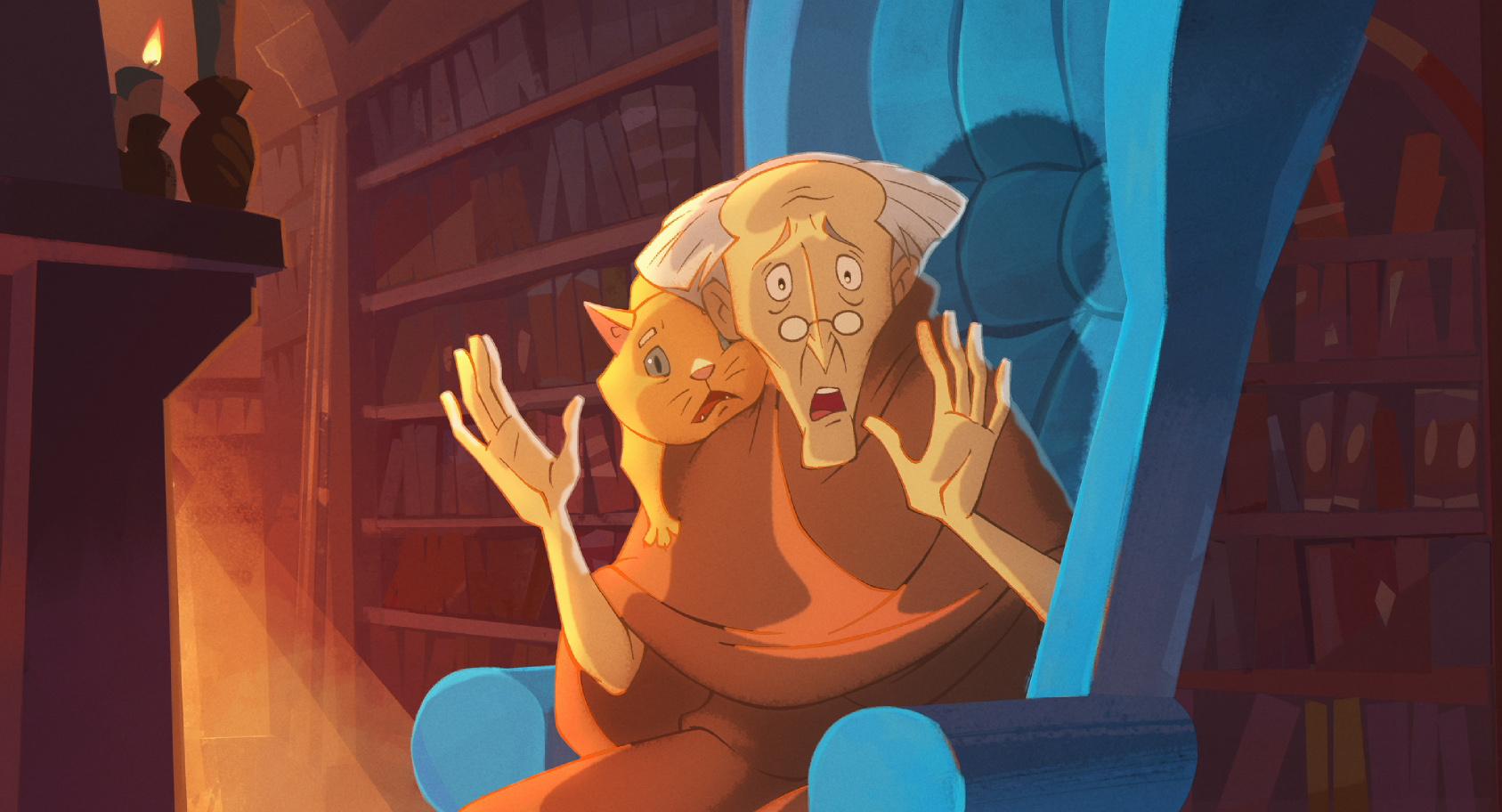 Кадр из мультфильма «Огонёк-огниво»