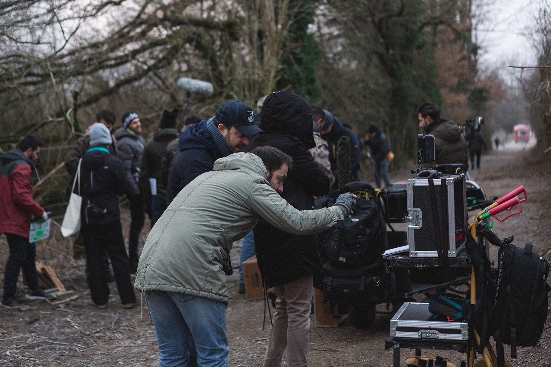 Фотография со съёмок фильма «Монстры за поворотом»