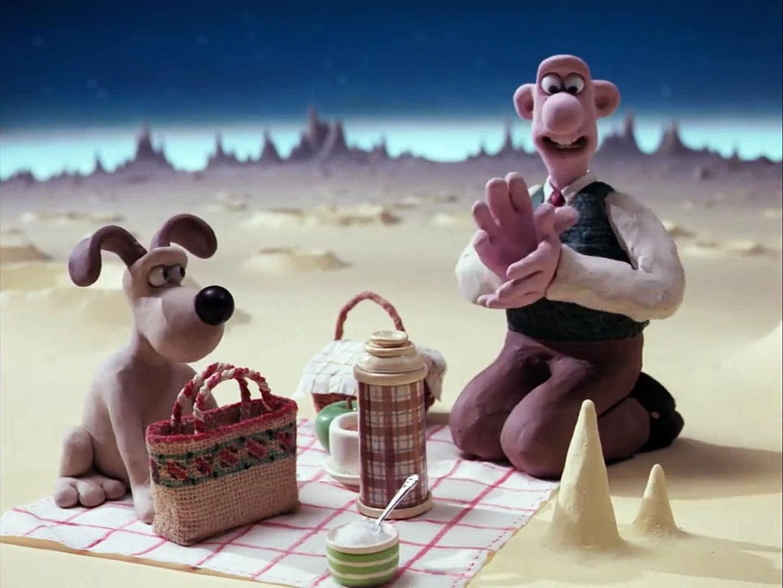 Кадр из мультфильма «Невероятные приключения Уоллеса и Громита: Пикник на Луне»