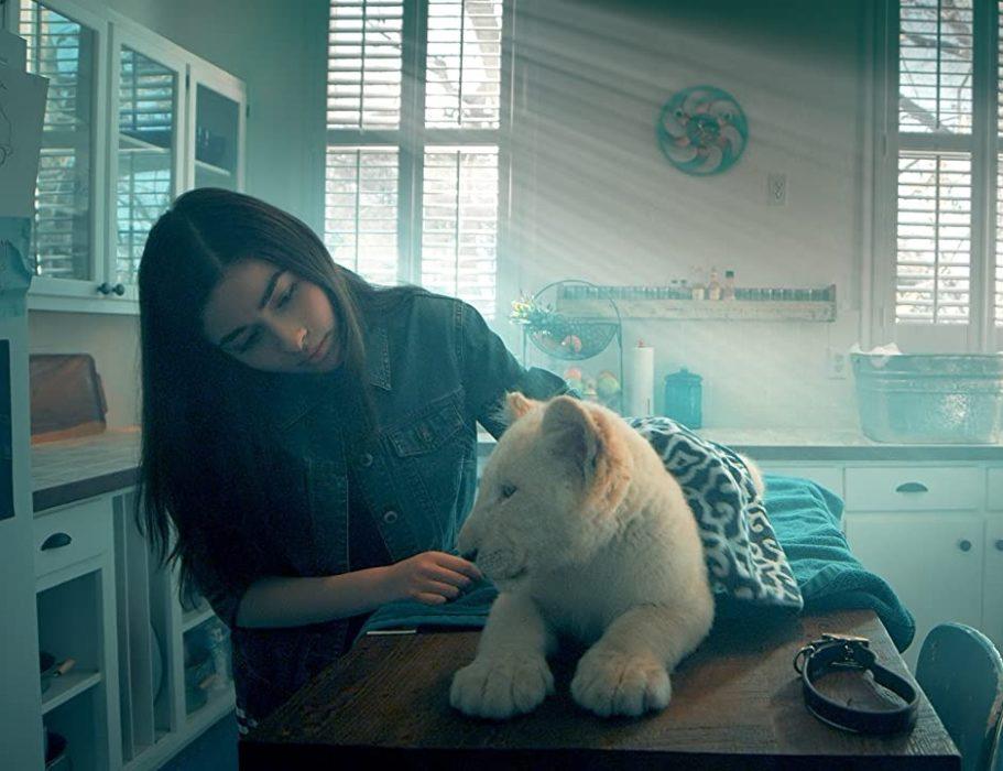 Кадр из фильма «Лена и львенок»